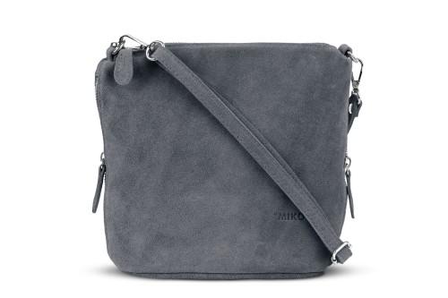 748f6d06351d0 Torebka Damska Listonoszka Skórzana Vera Pelle Antracyt Leather Box