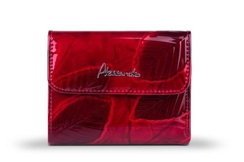 d9b6cda571ea3 Portfel damski Skórzany Alessandro Paoli Czerwony Leather Box