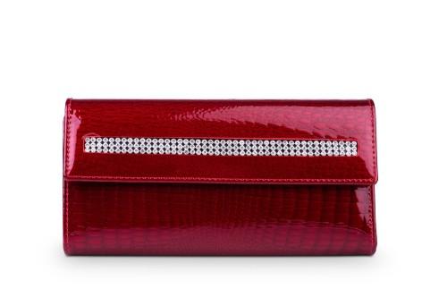 8e13dd4d99f3b Portfel damski Skórzany Alessandro Paoli Czerwony Leather Box