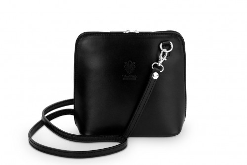 d82ec5c14e9fa Torebka Skórzana listonoszka Vera Pelle Mini Czarna Leather Box