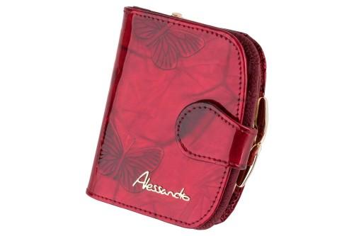e0c28763149b3 Portfel damski Alessandro Paoli 3516 Czerwony Leather Box