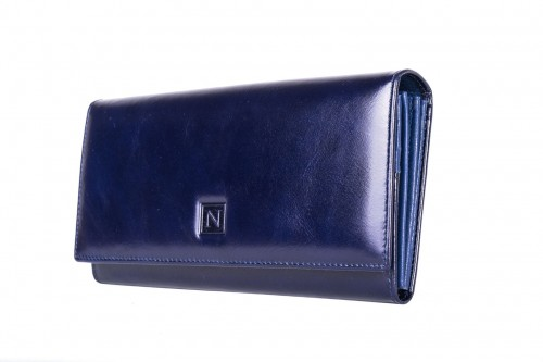 abec49f23c3c7 Portfel damski Skórzany Nicole Granatowy Leather Box