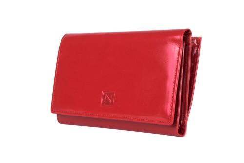 fbc5eb41a4f99 Portfel damski Skórzany Nicole Czerwony Leather Box