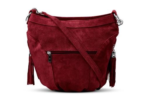 f83676d4808ab Torba Skórzana Vera Pelle Victoria Zamszowa Bordowa Leather Box