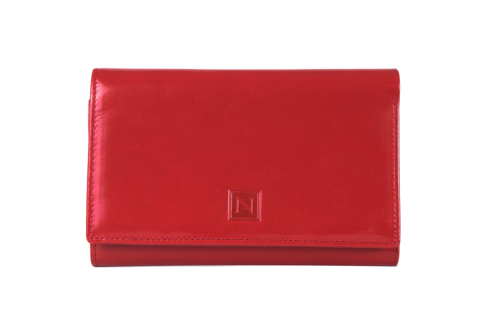 1f43db7b9c8db ... portfel damski, nicole, skóra naturalna, skóra licowa, czerwony ...