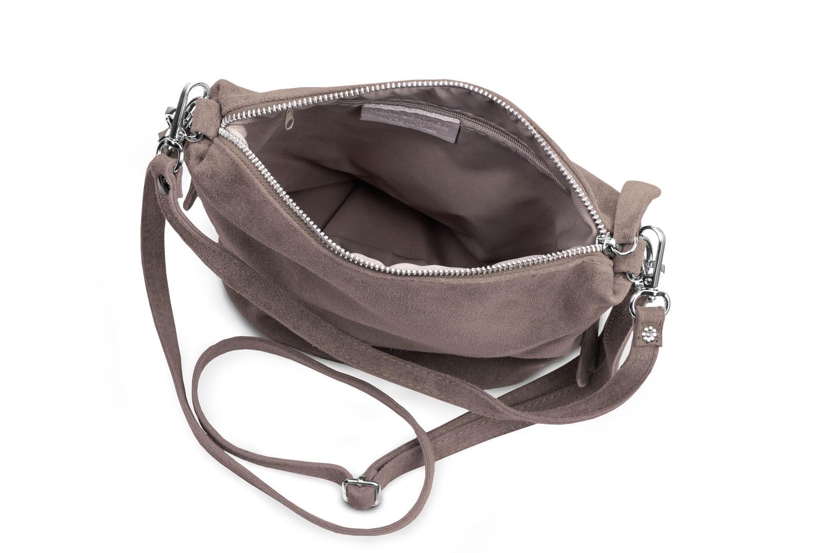 7e5f49013692a Torebka Damska Listonoszka Skórzana Vera Pelle Taupe Leather Box