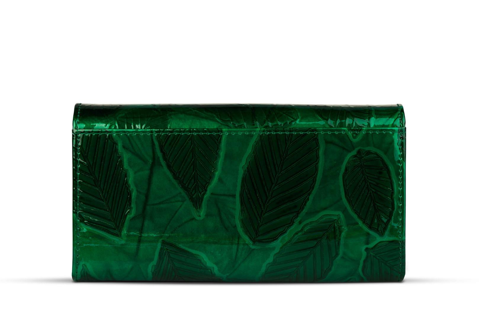 23350ae6e4bbf Portfel damski Skórzany Alessandro Paoli Zielony Leather Box