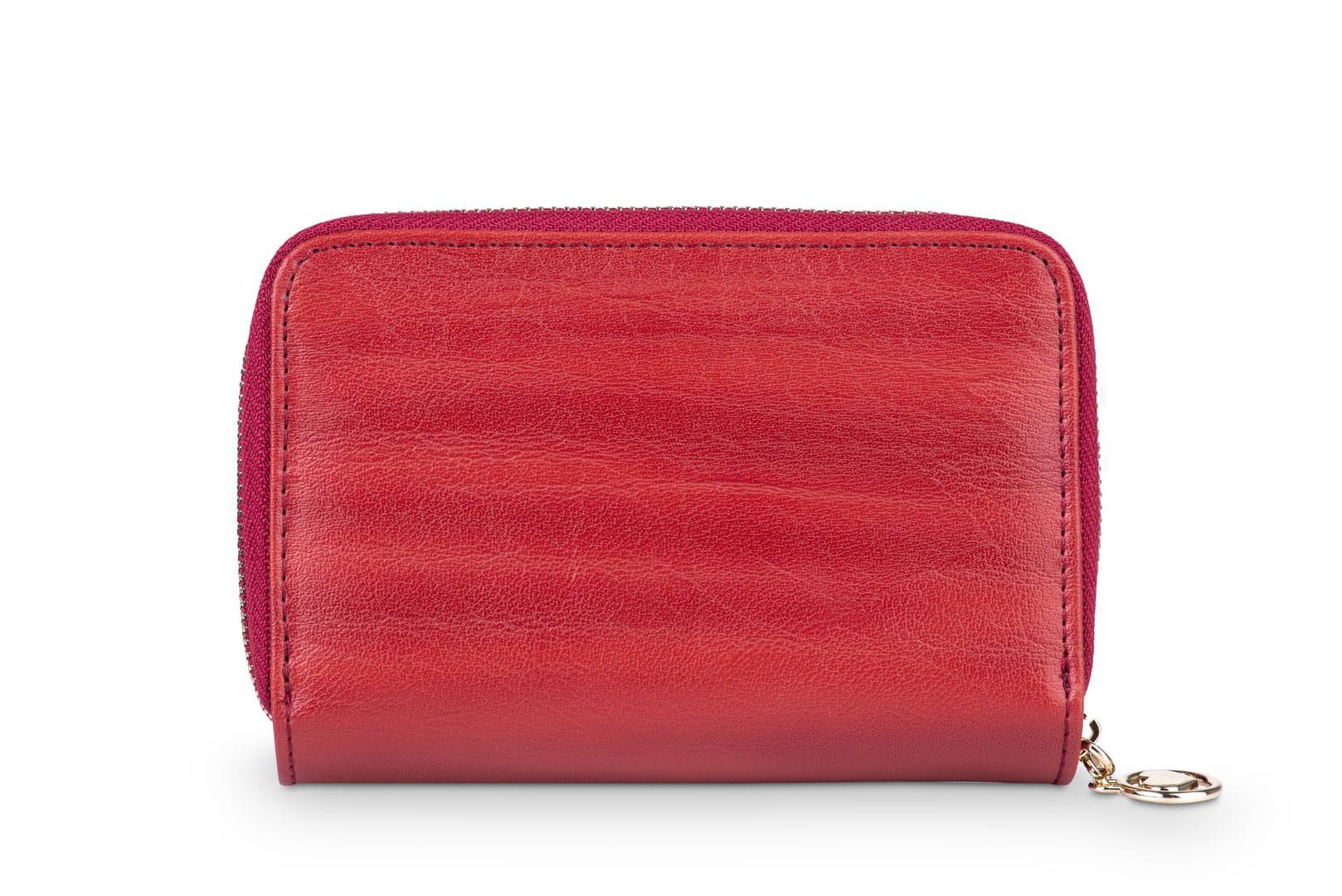 7de362850959a Portfel damski Skórzany Alessandro Paoli Czerwony Leather Box