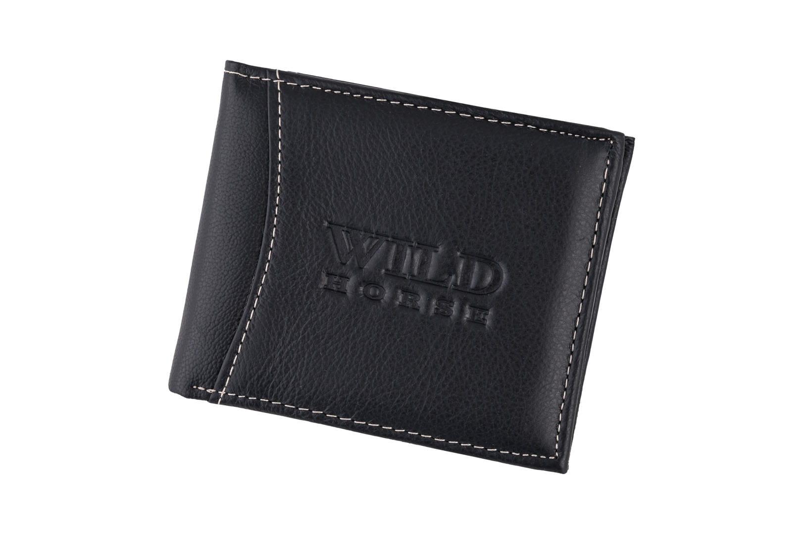 856edfdc8e5db Portfel męski Skórzany Wild Horse Czarny Leather Box
