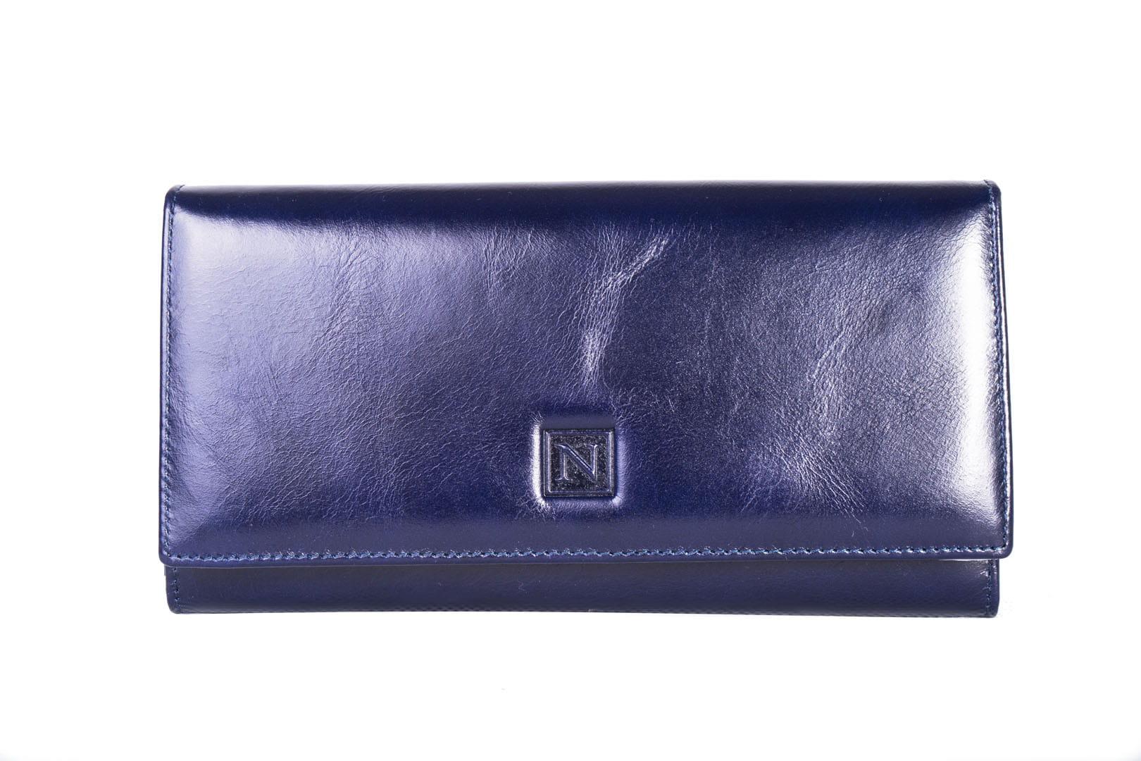 f526701d18f45 Portfel damski Skórzany Nicole Granatowy Leather Box