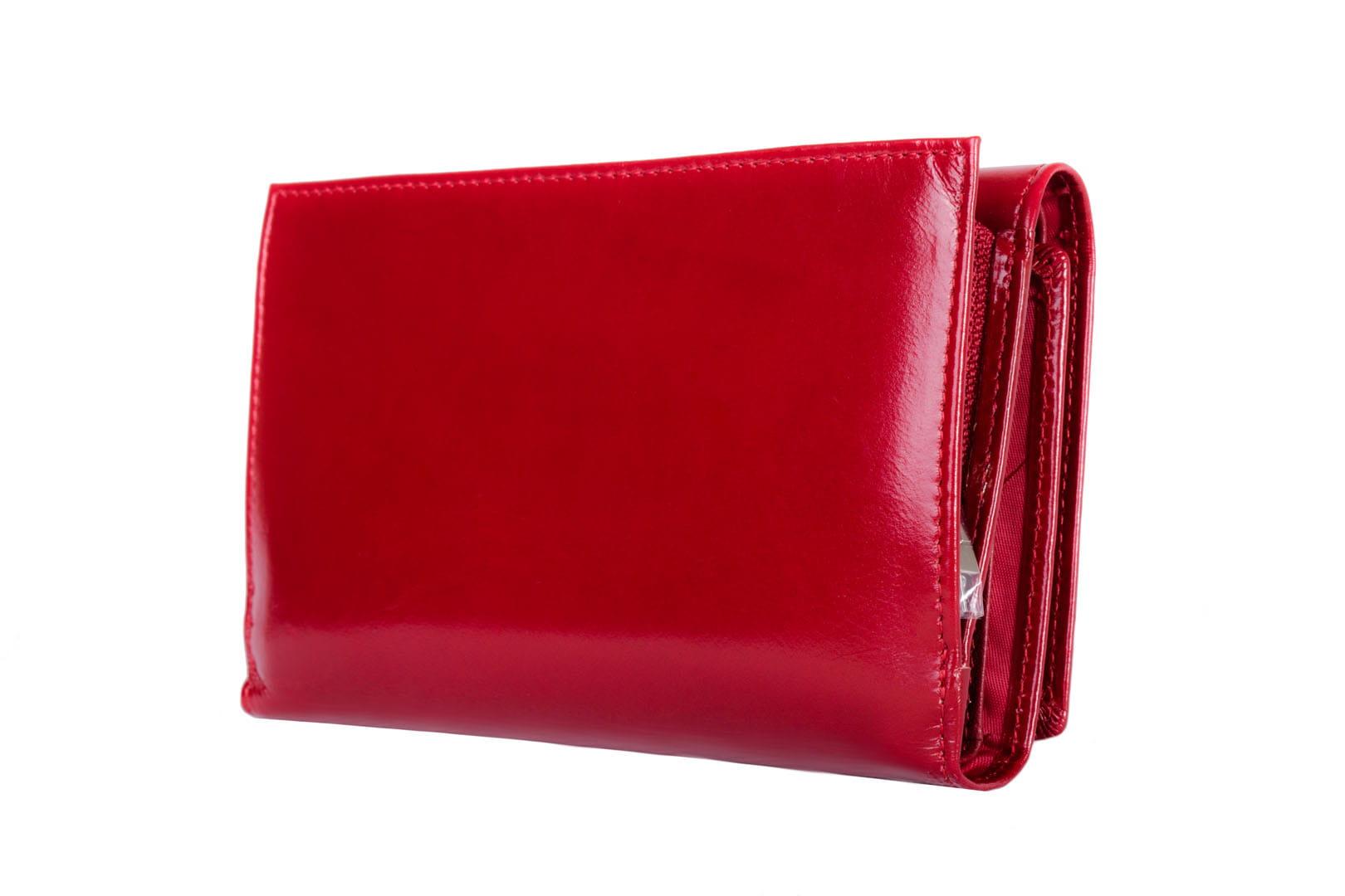 e0ee15d498b6c Portfel damski Skórzany Nicole Szkarłatny Leather Box