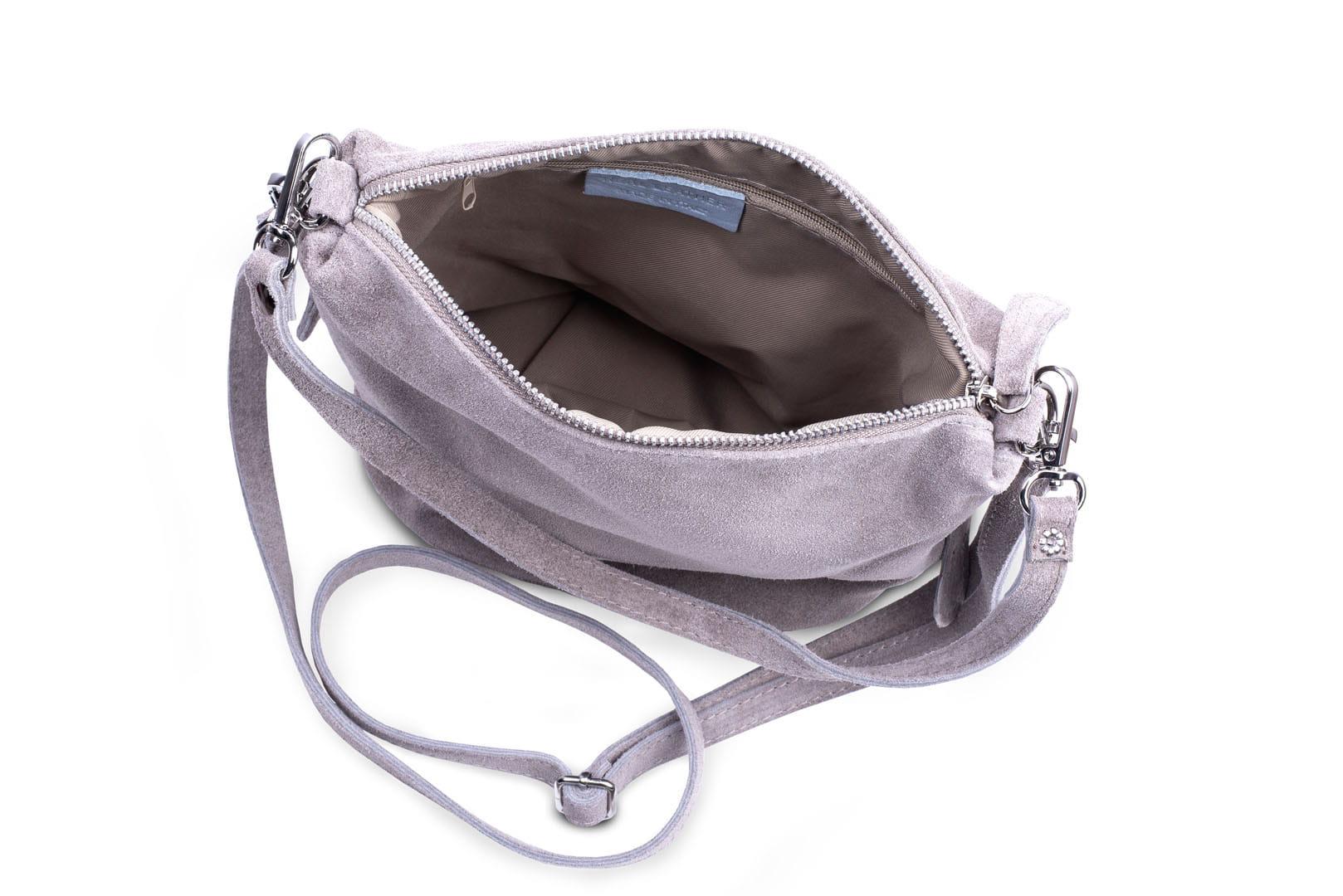 e88220d22ff11 Torebka Damska Listonoszka Skórzana Vera Pelle Beżowa Leather Box